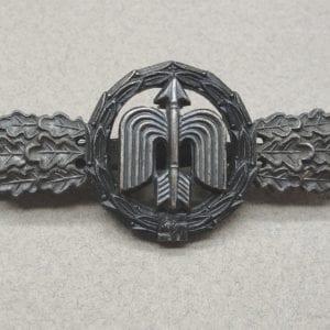 "Luftwaffe Long Range Night Fighter Clasp Silver Grade by ""R.K."""
