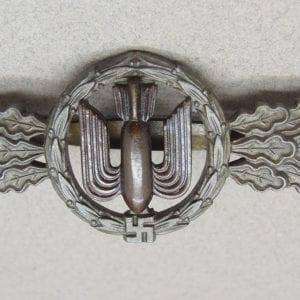 Luftwaffe Bomber Pilot's Clasp Bronze Grade by F & B L