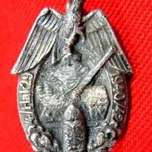 "Kriegsmarine Coastal Artillery Unit Badge, ""4./Flak 29 1940/42"""