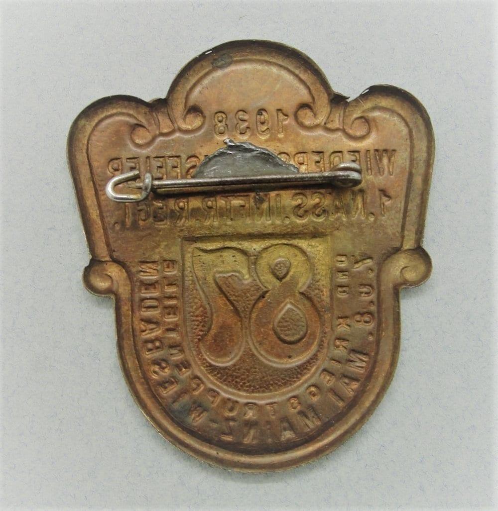 1938 1st Nassau Infantry Regiment Day Badge