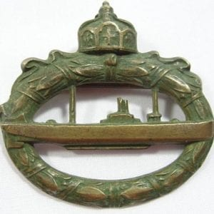 "World War One German U-Boat Badge, ""WALTER SCHOTT fec."""