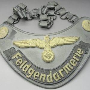 Army/Waffen-SS Field Police Gorget by Assmann