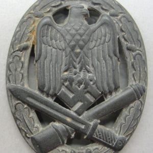 Army/Waffen-SS General Assault Badge, Deep-Dish Version, Catch Gone
