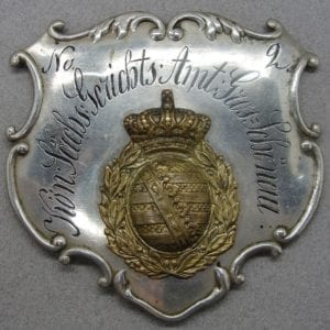 Large Court Officer's Badge Kingdom of Saxony