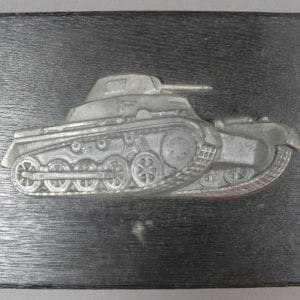 German Panzer Plaque