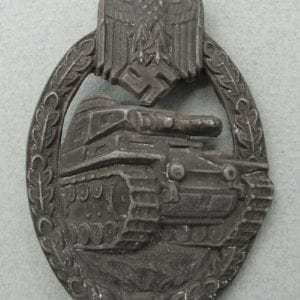 Army/Waffen-SS Panzer Assault Badge in Silver, Hollowback