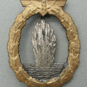 Kriegsmarine Minesweeper Badge by Schwerin, Catch Broken