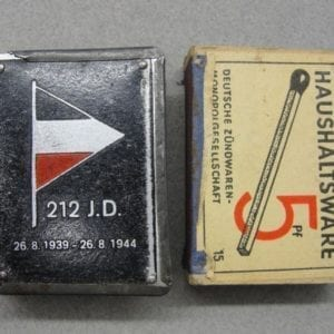 212th Infantry Division Matchbox Cover