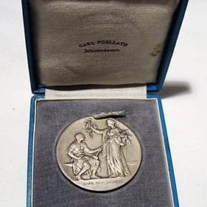 Cased Service Medal of The Bavarian Industrial League, Silver Grade