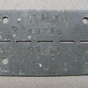 FRT STALAG 133 POW Camp ID Tag - British Commando St. Nazaire Raid
