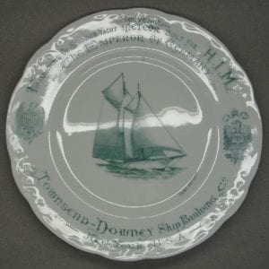 Launching of German Emperor's Schooner Yacht Plate