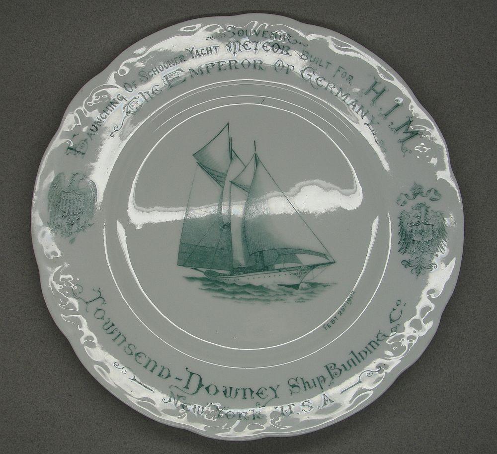Launching of German Emperor's Schooner Yacht Plate