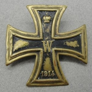 WW1 Iron Cross First Class, Brass, Screw-back Version
