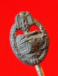 Army/Waffen-SS Panzer Assault Badge, Silver Grade Stickpin
