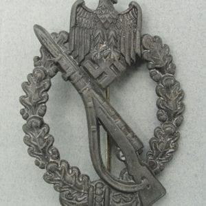 Army/Waffen-SS Infantry Assault Badge, Silver Grade, Hollowback