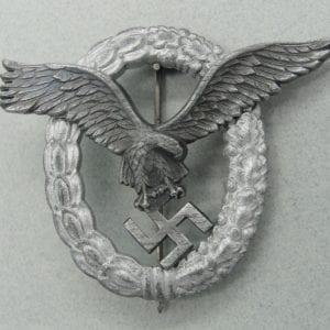 Luftwaffe Pilot's Badge by Friedrich Linden Lüdenscheid