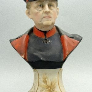 Porcelain Bust of Field Marshal Helmuth Graf von Moltke the Elder