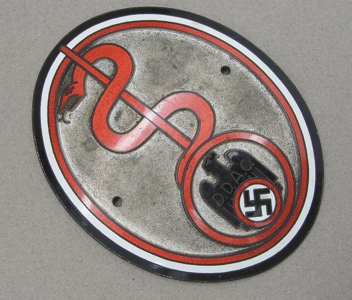 DDAC German Automobile Club Radiator Plaque for Physicians