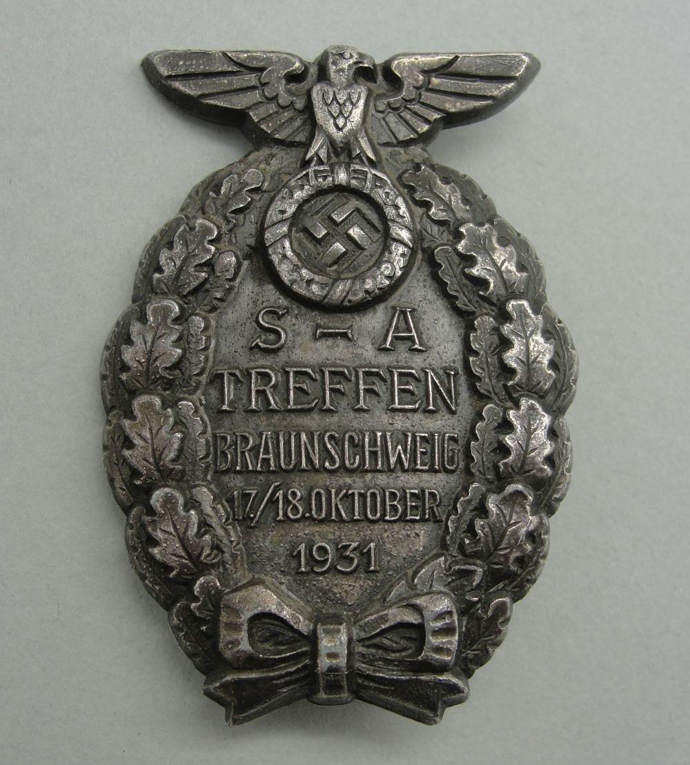 """1931 SA-TREFFEN BRAUNSCHWEIG Badge by """"RZM M1/63"""""""