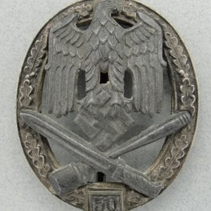 "General Assault Badge, ""50"" Numbered Version by ""RK"" (Grade II)"