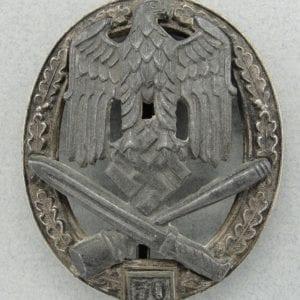 "General Assault Badge, ""50"" Numbered Version by ""RK"" (Grade II)"