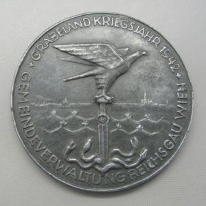 Grabeland Kriegsjahr 1942 Gemeindeverwaltung Reichsgau Wien Medal