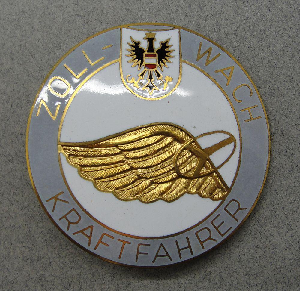 Austrian Zollwach Kraftfahrer Customs Officer Badge