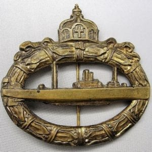 World War One German U-Boat Badge, Hollow-back Version