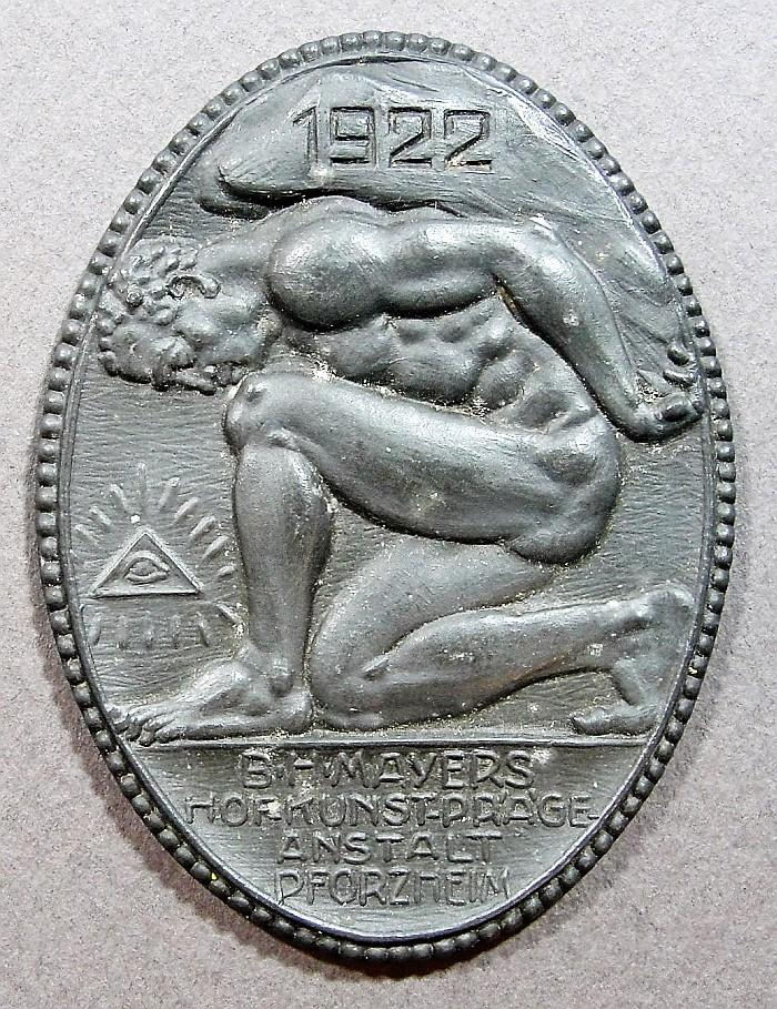 1922 B.H. Mayer Table Medal