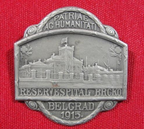 1915 Medal for German Austro-Hungarian Hospital at Brcko