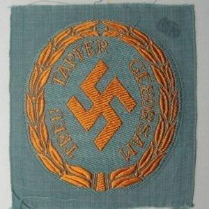 SCHUTZMANNSCHAFT (Schuma) Gendarmerie EM/NCO' Sleeve Insignia