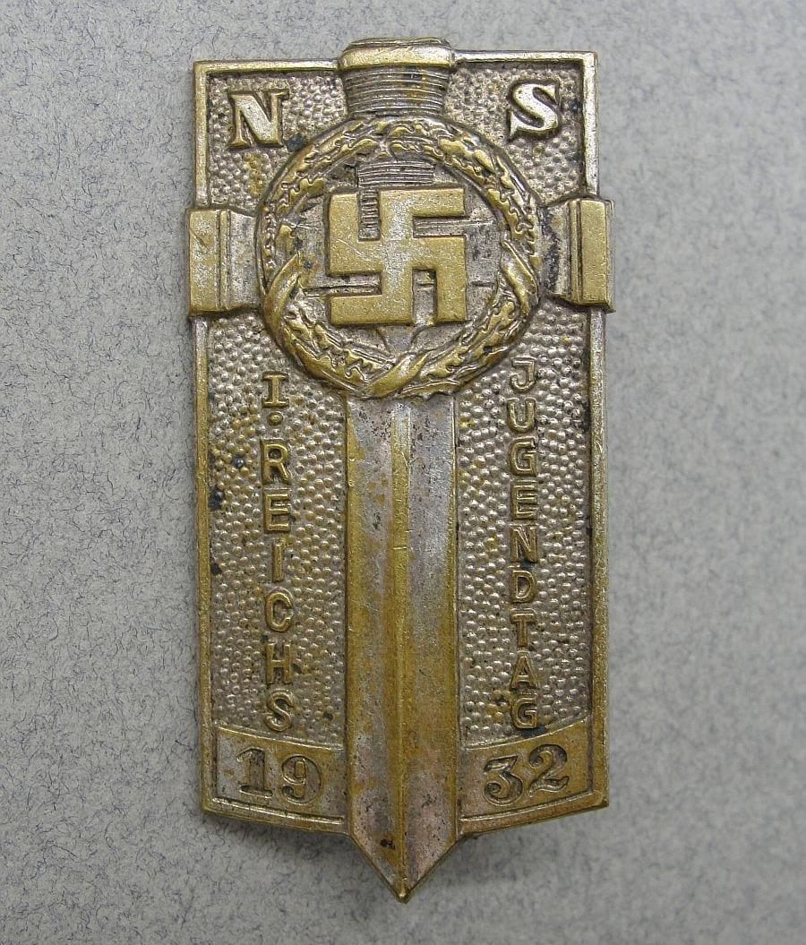 1932 Hitler Youth Potsdam Badge, Silver Grade, By Aurich