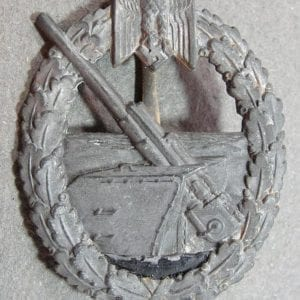 Kriegsmarine Coastal Artillery Badge by Juncker