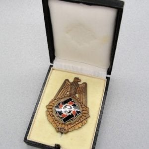 1919 TENO Honor Badge, with Matching Numbered Case # 3871