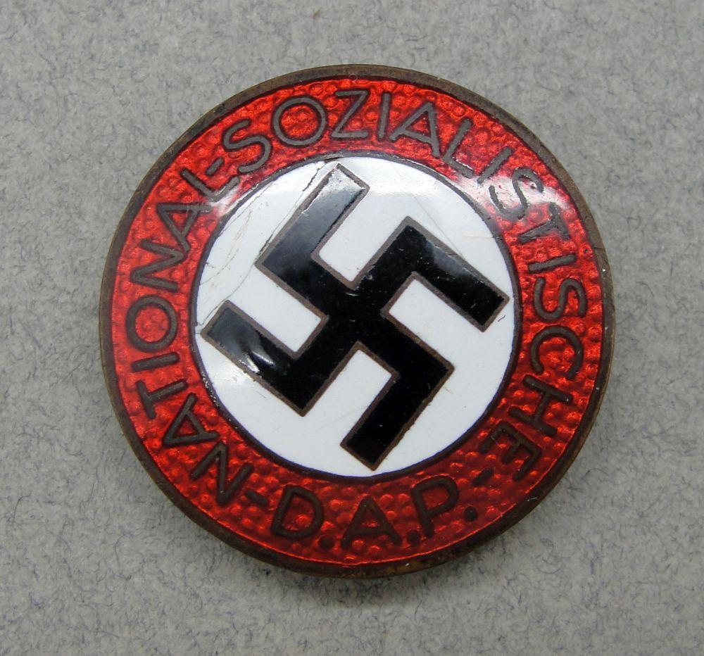 "NSDAP Membership Badge by ""RZM M1/72"" Buttonhole Version"