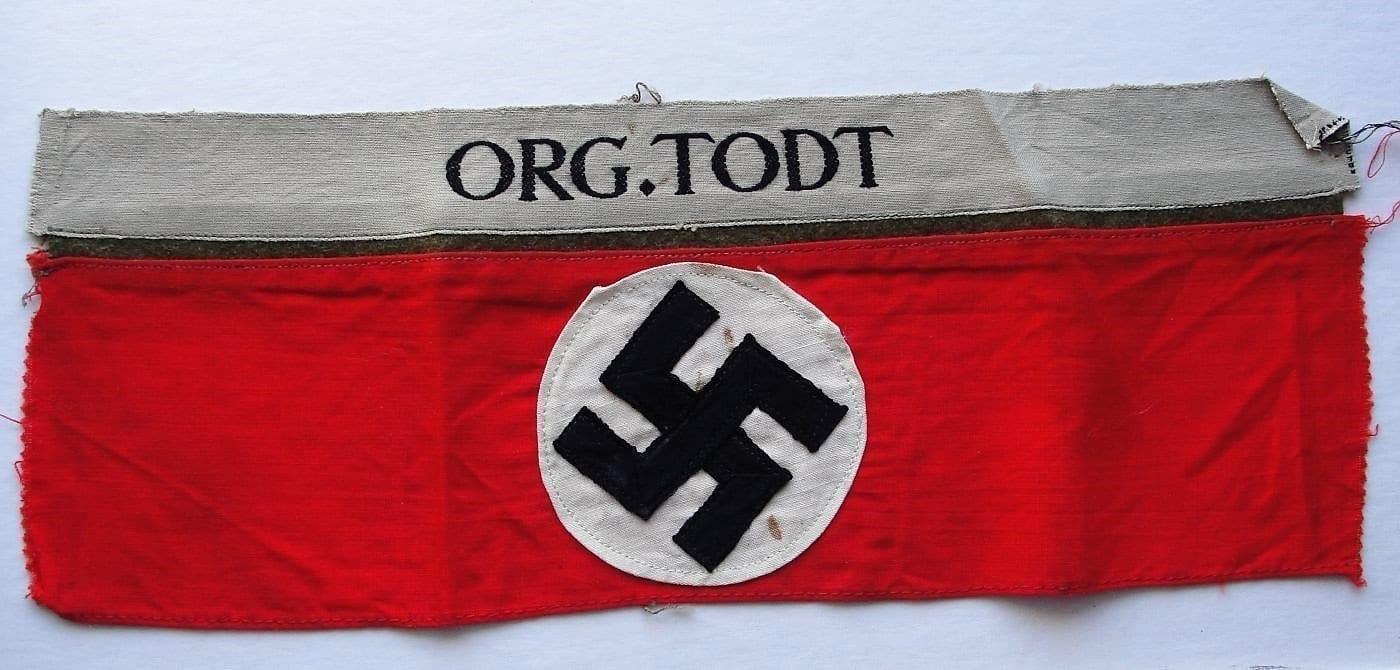 Organisation Todt Armband