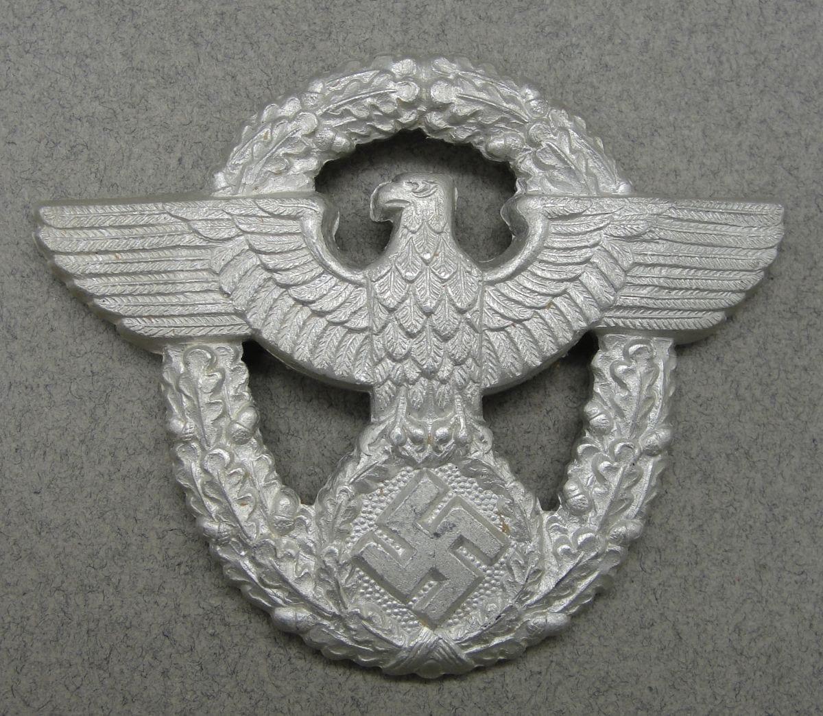 Police EM/NCOs Visor Cap Eagle