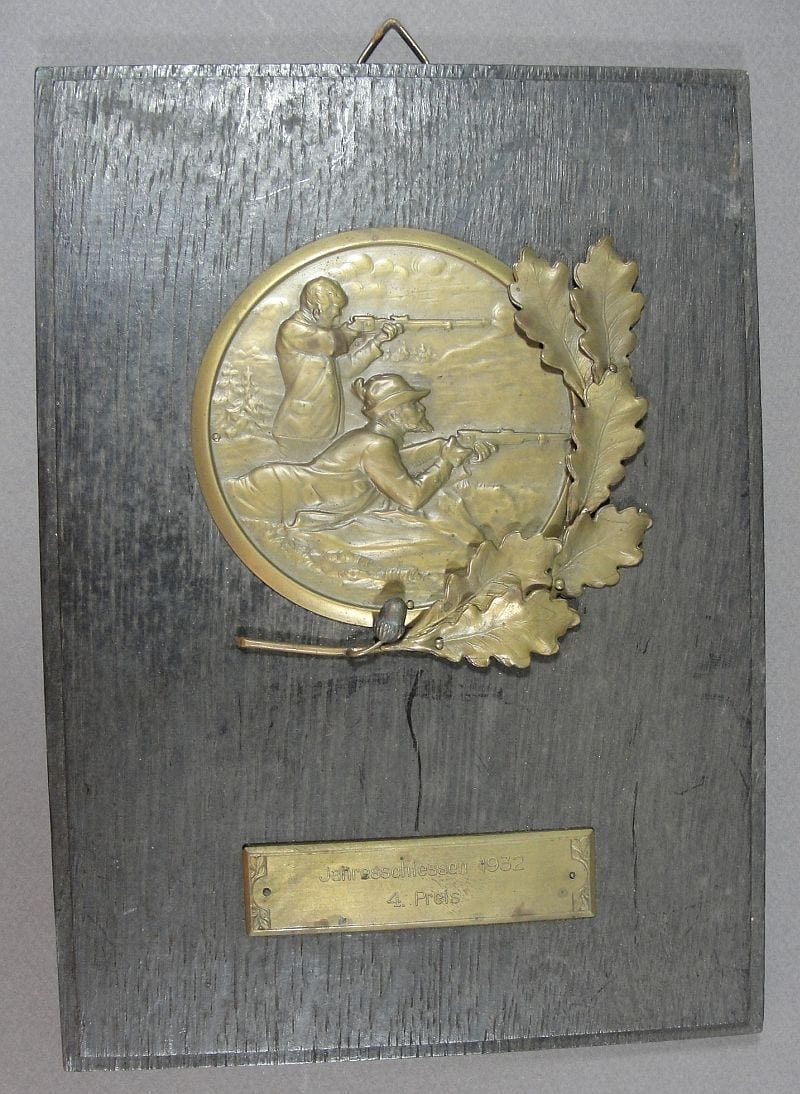 1932 German Shooting Prize Plaque
