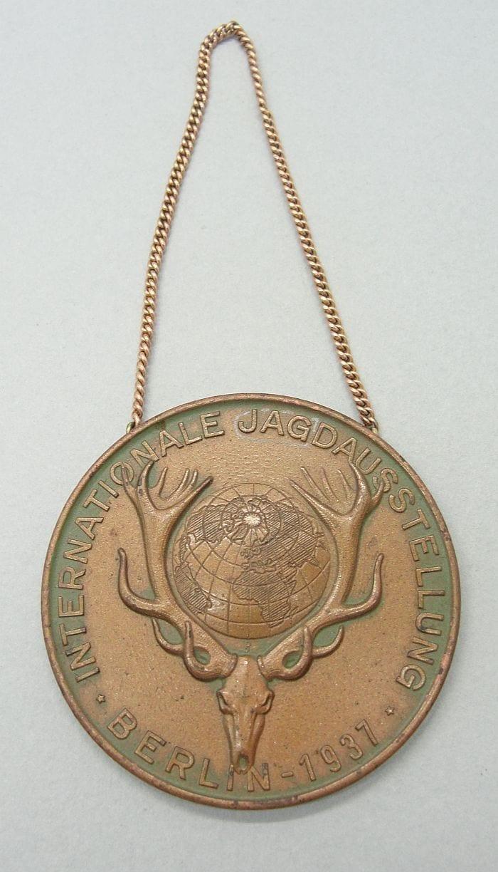 1937 German Hunting Association International Exhibit in Berlin Medal
