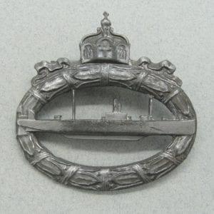 WW1 Imperial German U-Boat Badge