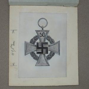 Original Photograph for Deschler Catalog from Deschler Factory - 50 Yr Medal