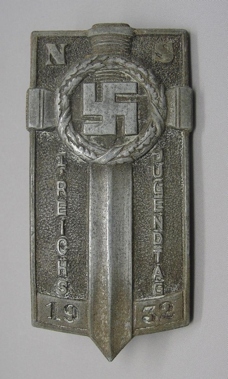 1932 Hitler Youth Potsdam Badge, Silver Grade