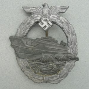 "Kriegsmarine Second Pattern E-Boat Badge by ""R.S."""