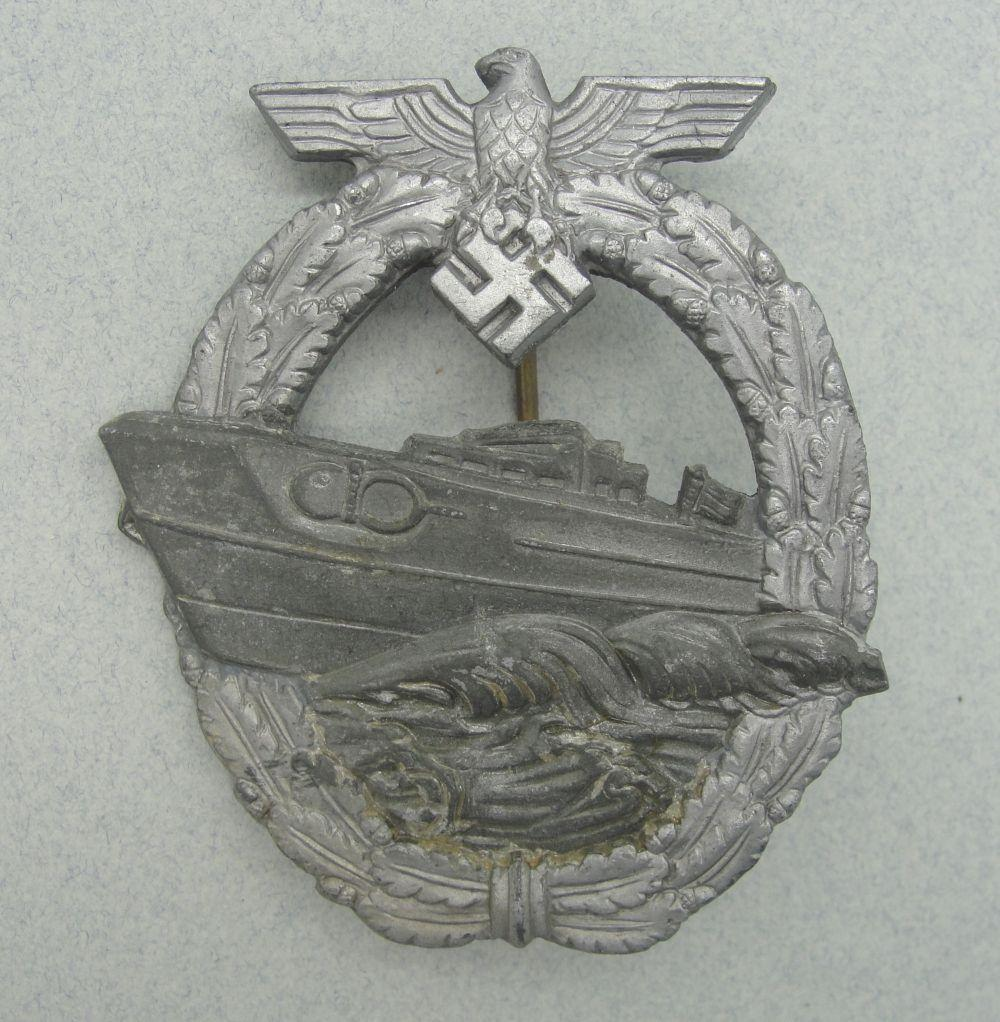 """Kriegsmarine Second Pattern E-Boat Badge by """"R.S."""""""