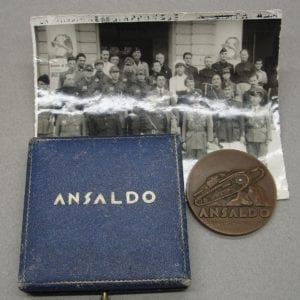 1941 Japanese Visit to Italian Tank Division Medal and Photo