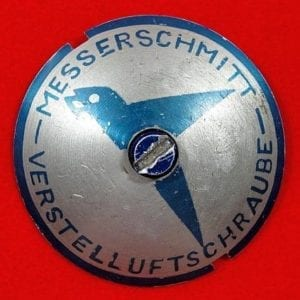1930's Messerschmitt Airplane Access Panel with Dzus Fastener