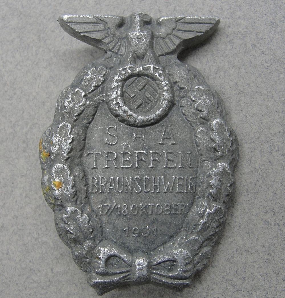 """1931 SA-TREFFEN BRAUNSCHWEIG Badge by """"RZM M1/35"""""""