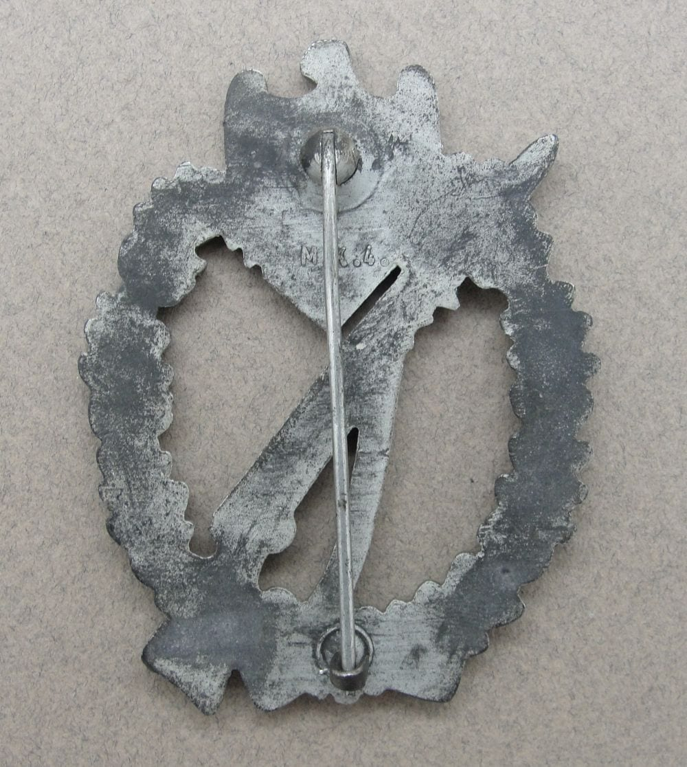 """Army/Waffen-SS Infantry Assault Badge, Silver Grade by """"M.K.4"""""""