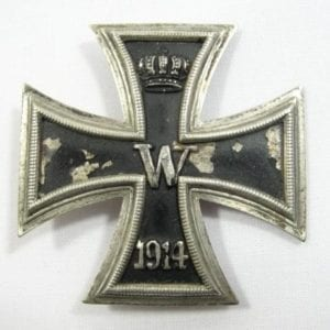 WW1 Iron Cross First Class, Damaged-Catch