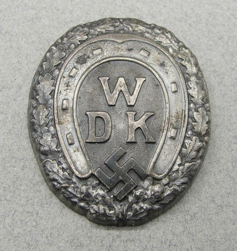 Waffenring Der Deutschen Kavallerie Cap Badge